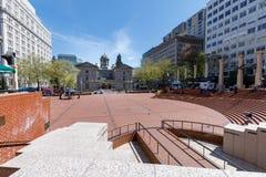 Τοπίο του δικαστηρίου πρωτοπόρων στο τετράγωνο πρωτοπόρων του Πόρτλαντ Στοκ φωτογραφία με δικαίωμα ελεύθερης χρήσης