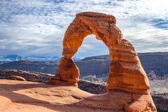 Τοπίο του εθνικού πάρκου UT, ΗΠΑ αψίδων Στοκ Εικόνες