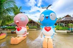 Τοπίο του ευτυχούς θεματικού πάρκου Dreamland στο νησί Boracay Στοκ φωτογραφίες με δικαίωμα ελεύθερης χρήσης