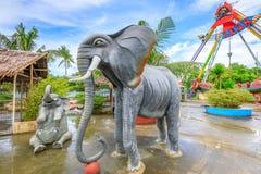 Τοπίο του ευτυχούς θεματικού πάρκου Dreamland στο νησί Boracay Στοκ Εικόνα