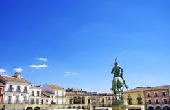 Τοπίο του δημάρχου Plaza, Trujillo Στοκ Εικόνες
