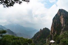 Τοπίο του κίτρινου βουνού βουνών Huangshan, Anhui, Κίνα Στοκ εικόνα με δικαίωμα ελεύθερης χρήσης
