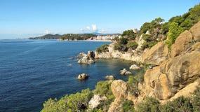 Τοπίο του Κόστα Μπράβα κοντά Lloret de Mar, Ισπανία Στοκ Εικόνες