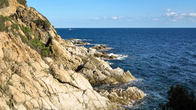 Τοπίο του Κόστα Μπράβα κοντά Lloret de Mar, Ισπανία Στοκ εικόνες με δικαίωμα ελεύθερης χρήσης
