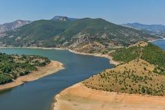 Τοπίο του μαιάνδρου ποταμών Arda και της δεξαμενής Kardzhali, Βουλγαρία Στοκ Φωτογραφίες