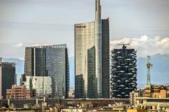 Τοπίο του Μιλάνου, Ιταλία Στοκ εικόνες με δικαίωμα ελεύθερης χρήσης