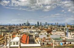 Τοπίο του Μιλάνου, Ιταλία Στοκ φωτογραφία με δικαίωμα ελεύθερης χρήσης