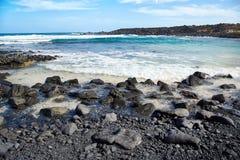 Τοπίο του νησιού Lanzarote, Κανάριες Νήσοι Στοκ εικόνα με δικαίωμα ελεύθερης χρήσης