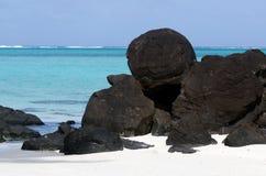 Τοπίο του νησιού Rapota στις νήσους Κουκ λιμνοθαλασσών Aitutaki Στοκ φωτογραφίες με δικαίωμα ελεύθερης χρήσης