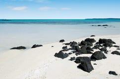 Τοπίο του νησιού Rapota στις νήσους Κουκ λιμνοθαλασσών Aitutaki Στοκ Εικόνα