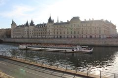 Τοπίο του Σηκουάνα ποταμών Στοκ Φωτογραφία