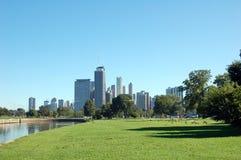 τοπίο του Σικάγου Στοκ Εικόνα