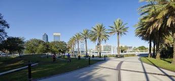 Τοπίο του Τζάκσονβιλ κεντρικός στη Φλώριδα, ΗΠΑ στοκ εικόνα με δικαίωμα ελεύθερης χρήσης