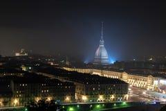 Τοπίο του Τορίνου τη νύχτα στοκ εικόνα με δικαίωμα ελεύθερης χρήσης