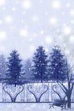 Τοπίο του χιονώδους Σαββατοκύριακου - γραφική σύσταση ζωγραφικής διανυσματική απεικόνιση