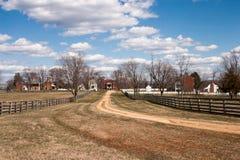 Τοπίο του χωριού Appomattox, Βιρτζίνια Στοκ φωτογραφία με δικαίωμα ελεύθερης χρήσης