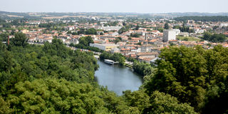 Τοπίο του Angouleme Στοκ φωτογραφία με δικαίωμα ελεύθερης χρήσης