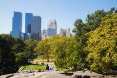 Τοπίο του Central Park και των κτηρίων, Νέα Υόρκη Στοκ Φωτογραφίες