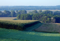 τοπίο του Iowa αγροτικό Στοκ εικόνα με δικαίωμα ελεύθερης χρήσης