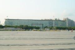 Τοπίο του plaza προκυμαιών Baoan και κτηρίου περιοχής Baoan του κυβερνητικού Στοκ φωτογραφία με δικαίωμα ελεύθερης χρήσης