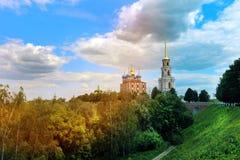 Τοπίο του Ryazan Κρεμλίνο Στοκ εικόνα με δικαίωμα ελεύθερης χρήσης