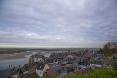 Τοπίο του Saint-Valery-sur-Somme, Γαλλία Στοκ Φωτογραφίες