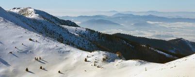 Τοπίο το χειμώνα, Mala Fatra, Σλοβακία Στοκ Φωτογραφία