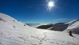 Τοπίο το χειμώνα, Mala Fatra, Σλοβακία Στοκ Εικόνες