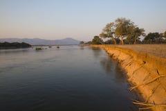Τοπίο τραπεζών Ζαμβέζη στοκ εικόνες