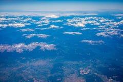 Τοπίο των αιχμών των βουνών και των σύννεφων Shevelev Στοκ φωτογραφία με δικαίωμα ελεύθερης χρήσης