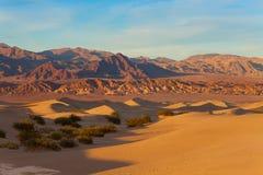 Τοπίο των αμμόλοφων άμμου στην κοιλάδα Καλιφόρνια θανάτου Στοκ εικόνα με δικαίωμα ελεύθερης χρήσης