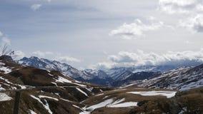 Τοπίο των βουνών από το formigal χειμερινό θέρετρο, Ισπανία απόθεμα βίντεο