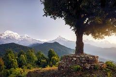Τοπίο των βουνών Himalayan στοκ φωτογραφία