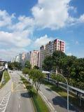 Τοπίο των κατοικημένων διαμερισμάτων στη Σιγκαπούρη Στοκ Εικόνα
