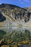 Τοπίο των λιμνών Elenski κοντά στην αιχμή Malyovitsa, βουνό Rila Στοκ Εικόνες