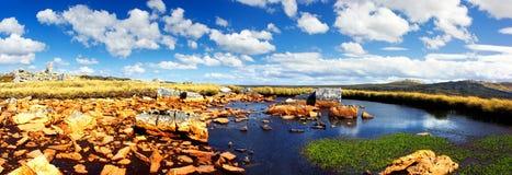 τοπίο των Νήσων Φώκλαντ Στοκ φωτογραφία με δικαίωμα ελεύθερης χρήσης