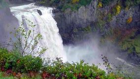 Τοπίο των πτώσεων Snoqualmie στο πολιτεία της Washington, ΗΠΑ στοκ εικόνες