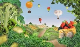 Τοπίο των τροφίμων διανυσματική απεικόνιση