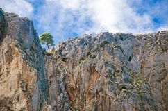 Τοπίο των υψηλών βουνών στο καλοκαίρι στην Ισπανία Στοκ φωτογραφία με δικαίωμα ελεύθερης χρήσης