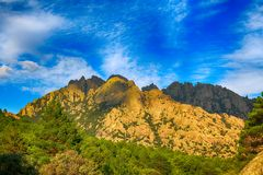 Τοπίο των δύσκολων βουνών στην Ισπανία Στοκ Φωτογραφία