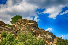 Τοπίο των δύσκολων βουνών στην Ισπανία Στοκ Εικόνα