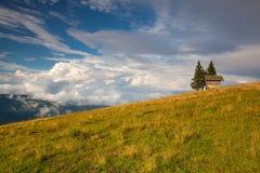 Τοπίο φθινοπώρου σε Carnic Apls στην Αυστρία Στοκ Φωτογραφίες