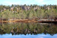 Τοπίο φθινοπώρου στην Ευρώπη Στοκ Εικόνες