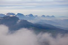 Τοπίο φθινοπώρου στη σειρά βουνών Jura Στοκ Εικόνες