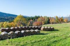 Τοπίο φθινοπώρου στο βουνό μικρό Arber, Βαυαρία, Γερμανία Στοκ εικόνες με δικαίωμα ελεύθερης χρήσης