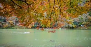 Τοπίο φθινοπώρου στο Κιότο, Ιαπωνία Στοκ φωτογραφίες με δικαίωμα ελεύθερης χρήσης