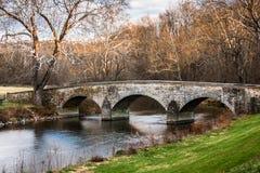 Τοπίο φθινοπώρου της ιστορικής γέφυρας Burnside Στοκ εικόνες με δικαίωμα ελεύθερης χρήσης