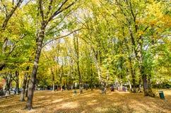 Τοπίο φθινοπώρου της ιστορικής πόλης σε Arrowtown, Νέα Ζηλανδία Στοκ φωτογραφίες με δικαίωμα ελεύθερης χρήσης