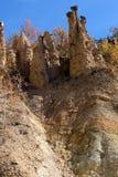 Τοπίο φθινοπώρου της πόλης διαβόλων ` s σχηματισμού βράχου στο βουνό Radan, Σερβία Στοκ εικόνες με δικαίωμα ελεύθερης χρήσης