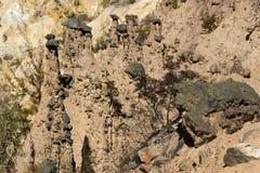 Τοπίο φθινοπώρου της πόλης διαβόλων ` s σχηματισμού βράχου στο βουνό Radan, Σερβία Στοκ Εικόνα